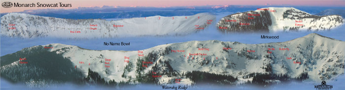 monarch snowcat skiing map