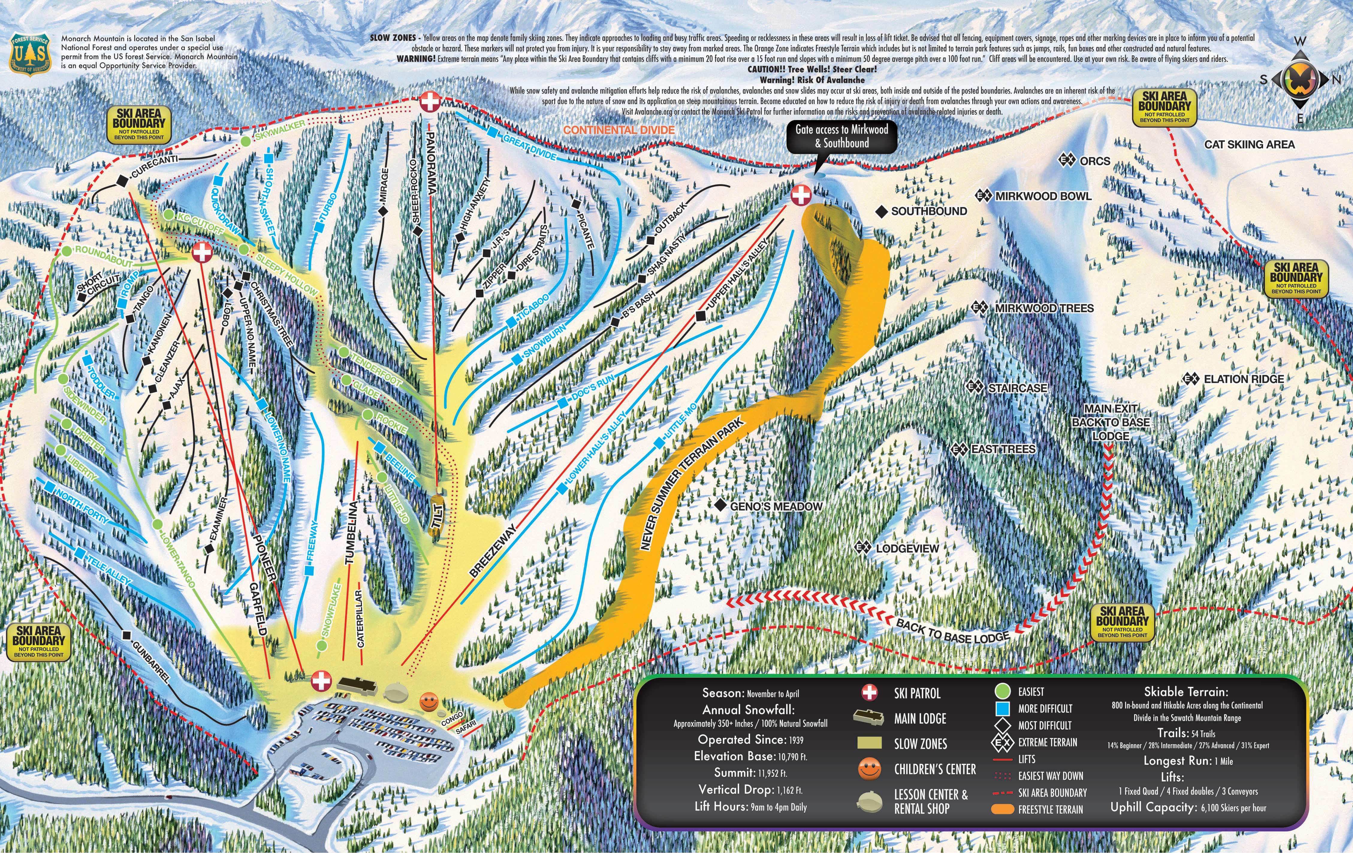 monarch mountain trail map -