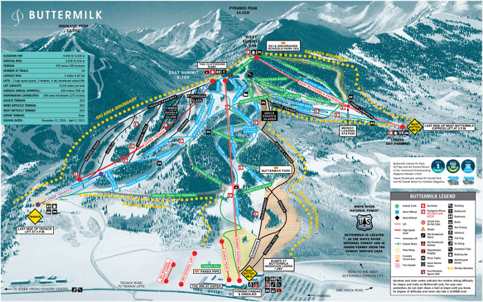 buttermilk ski area trail map