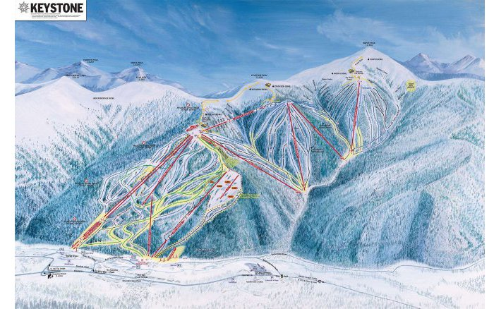 keystone ski resort trail map