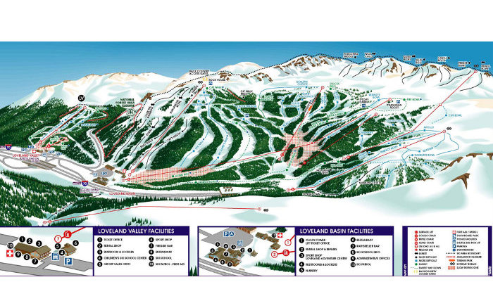 loveland ski area trail map