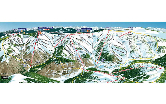 vail mountain backside trail map