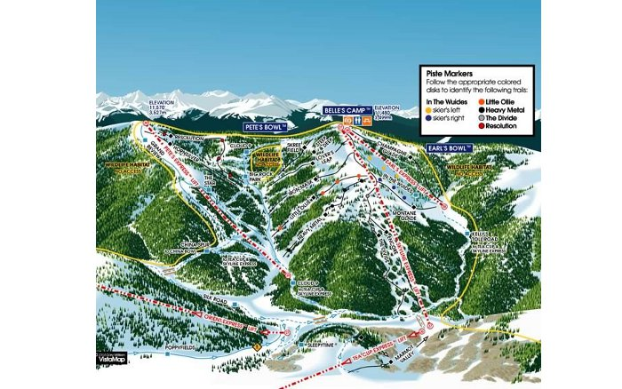blue sky basin trail map